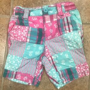 The Children's Place Pink & Aqua Madras Shorts
